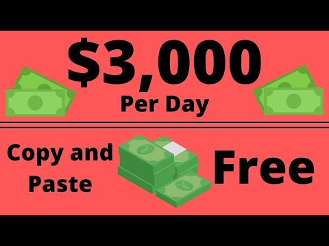 Earn $3000/Day With Copy & Paste! | EASY & FREE Make Money Online (No Investment)
