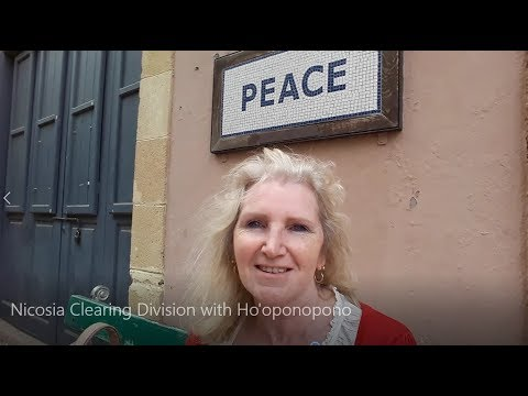 Nicosia, Cyprus - Sarah Barton Clearing Division at the Green Line with Ho'oponopono