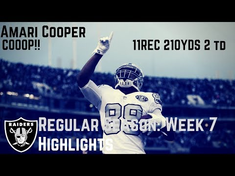 Amari Cooper Week 7 Regular Season Highlights Bounce back! | 10/19/2017