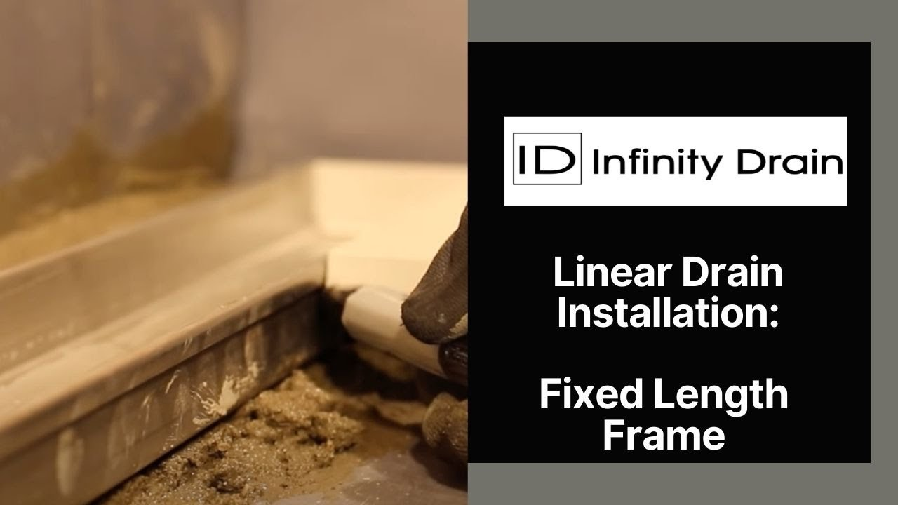 Infinity Drain   Fixed Length Linear Drain Installation   YouTube
