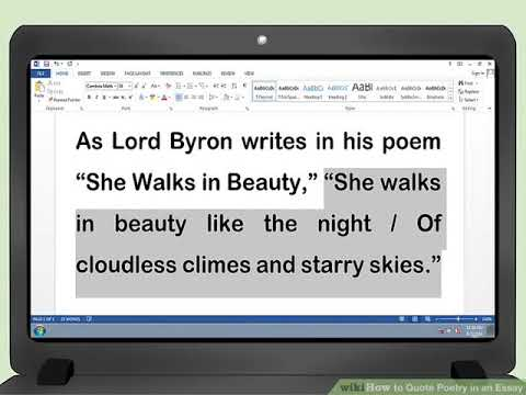 How to Quote Poetry in an Essay