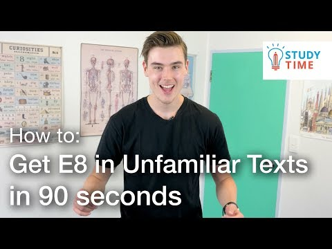 How to GET E8 in NCEA Unfamiliar Texts in 90 SECONDS | StudyTime NZ