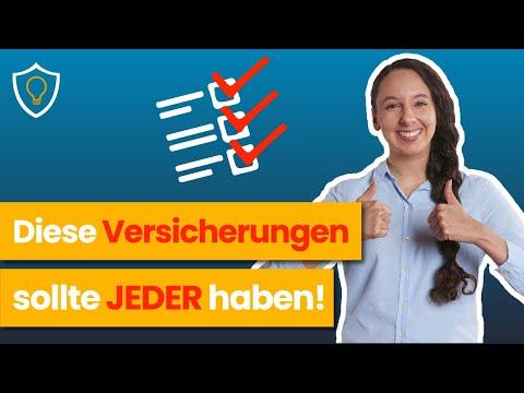 Die 4 WICHTIGSTEN Versicherungen - ERKLÄRT In 5 Minuten!