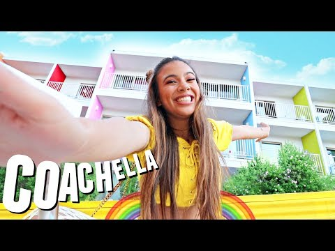 RAINBOW PALM SPRINGS HOTEL TOUR!🌵🌞🌈 Coachella 2018