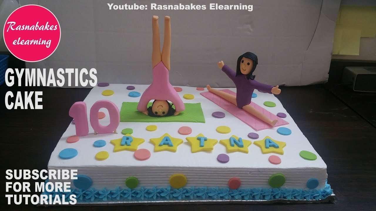 Gymnastics Birthday Cakebirthday Cake Toppers Youtube