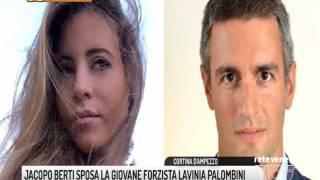 TG PADOVA (31/07/2017) - JACOPO BERTI SPOSA LA GIOVANE FORZISTA LAVINIA PALOMBINI