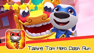 Talking Tom Hero Dash Run Day 106 Walkthrough Raccoon Chase Recommend index five stars