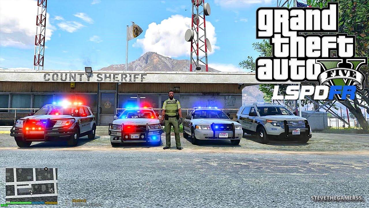 GTA 5 LSPDFR 0 3 1 - EPiSODE 76 - LET'S BE COPS - SHERIFF PATROL (GTA 5 PC  POLICE MODS)