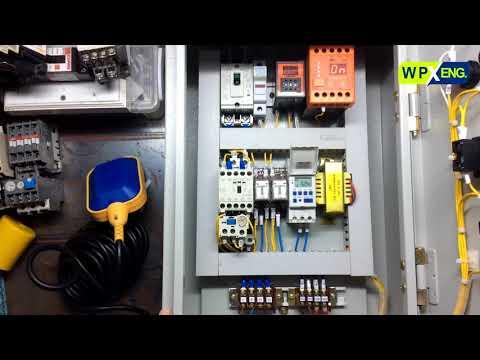 ตู้ควบคุมปั๊มน้ำ 1 เฟส สั่งงานด้วย Timer Switch ป้องกันปั๊ม Run dry ด้วย Flow Switch