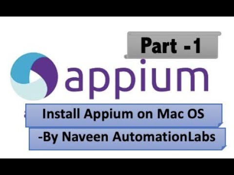How to setup Appium on Mac OS - Appium Series Part 1
