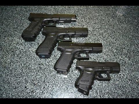 Four Glock Pistols in 9mm - YouTube