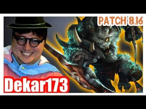 Dekar173 | Best RENGAR vs YORICK | Dekar RENGAR Top | Challenger Gameplay | Patch 8.16