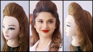 Full Puff Hairstyle Inspired By Jennfer Winget || Puff Hairstyle For Girls || Hairstyles || Puff