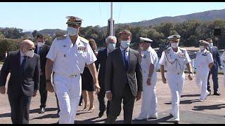Tui recibe con aplausos al Rey en visita a Comandancia Naval del Miño