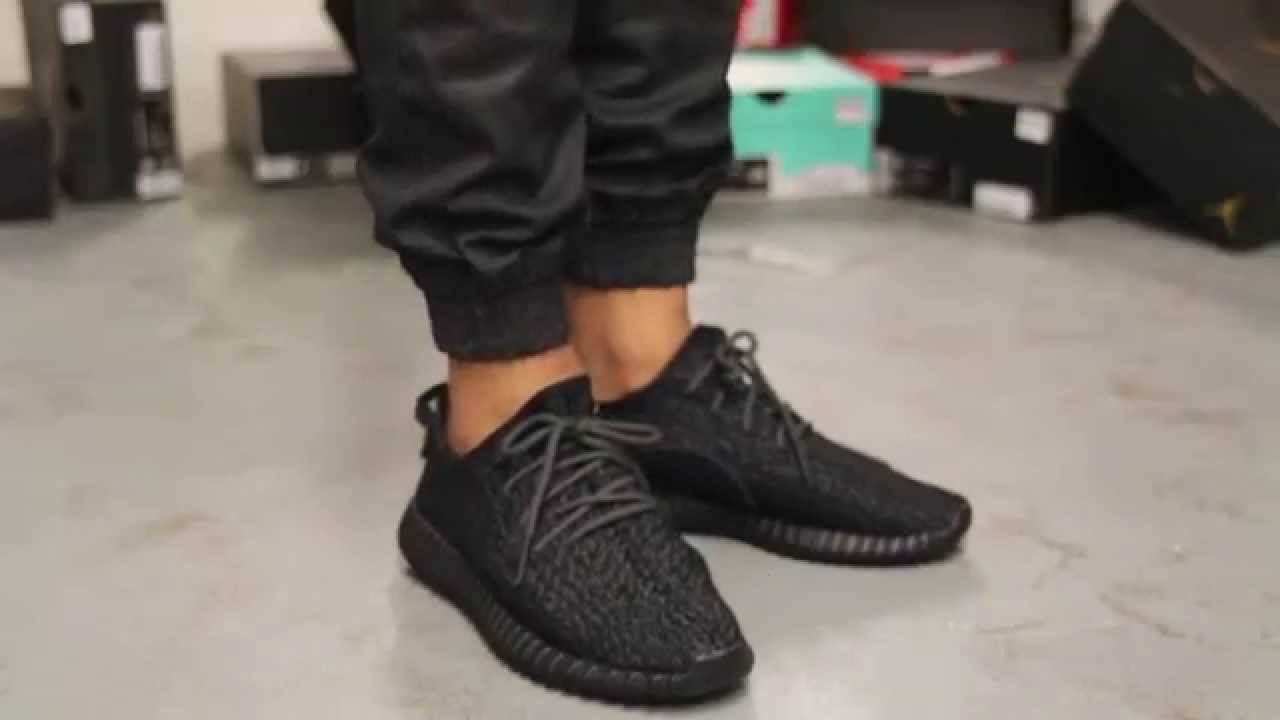 Yeezy 350 V2 Core Black Red Letter