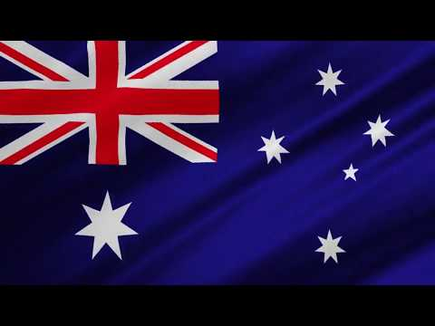 Australian Flag Waving [ONE HOUR NON STOP NO ADS]