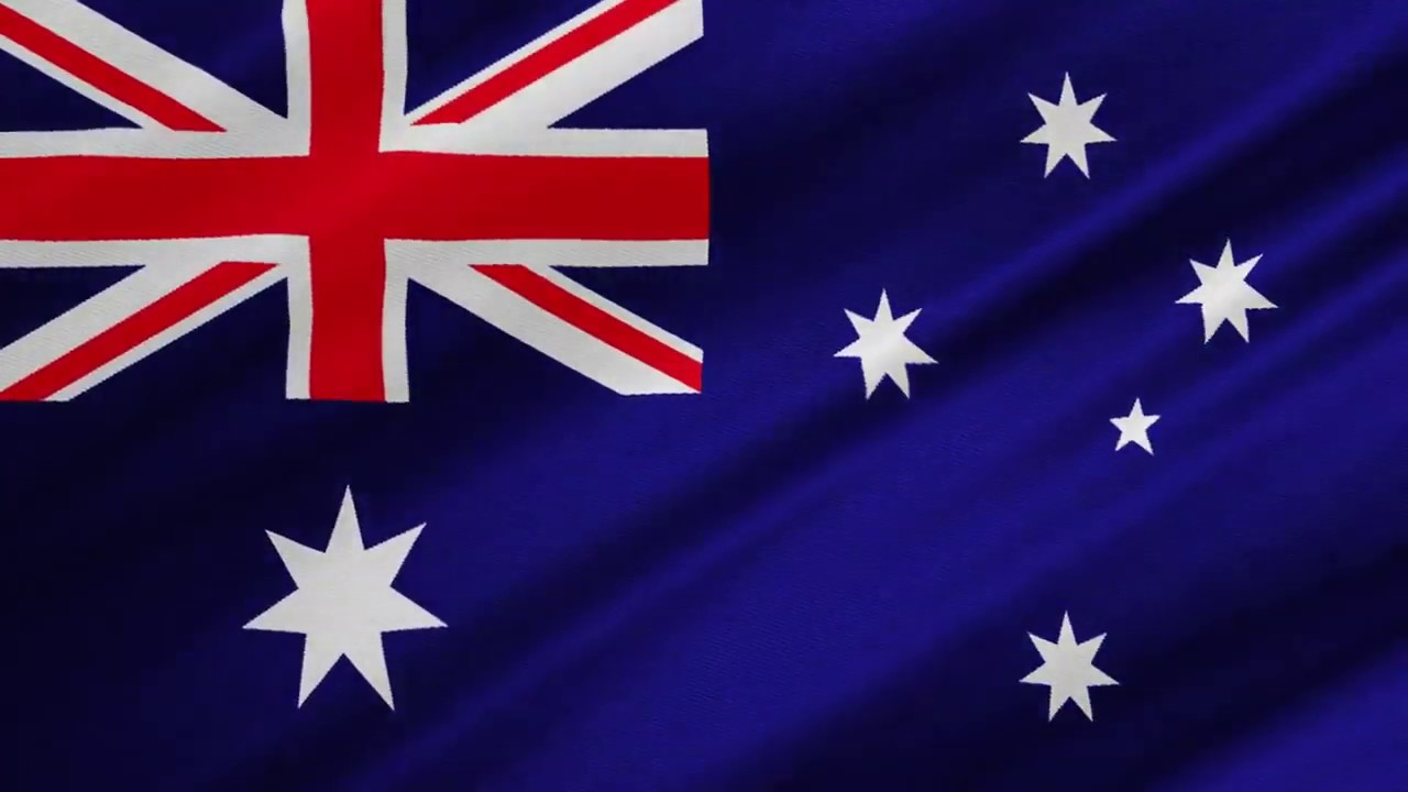 Australian Flag Waving (ONE HOUR NON STOP NO ADS)