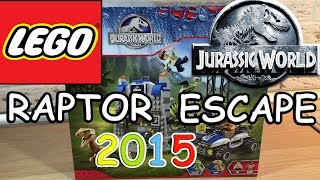 Lego Jurassic World - Raptor Escape 2015. Unboxing Exclusive Set 75920 (review Release Day)