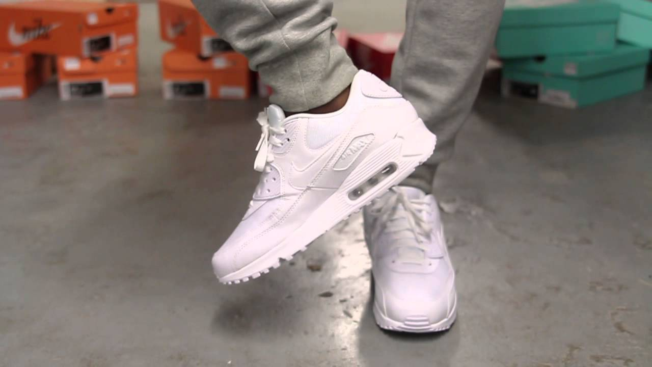 Air Max 90 White On Feet