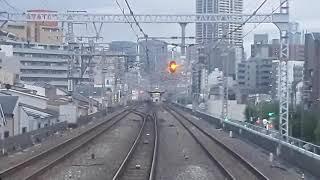 JR西日本大阪環状線前面展望西九条~野田(2019年10月10日木曜日)携帯電話で撮影