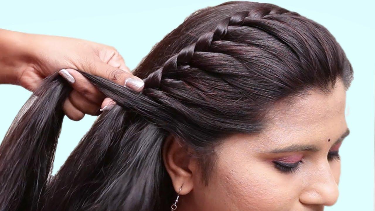 Easy Pretty Side Braid Hairstyles for Girls - Kurti Blouse