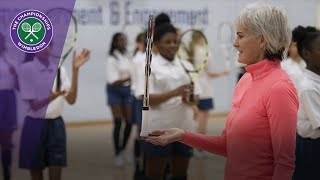 Wimbledon Foundation joins Judy Murray for local tennis session