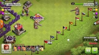 Clash of clans barbarian king lvl 1 vs barbarian king lvl 2