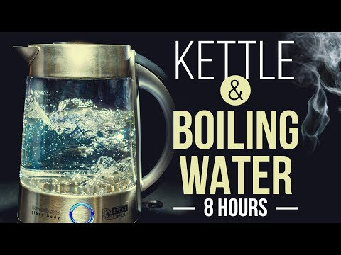 WHITE NOISE boiling water in kettle 8 hours