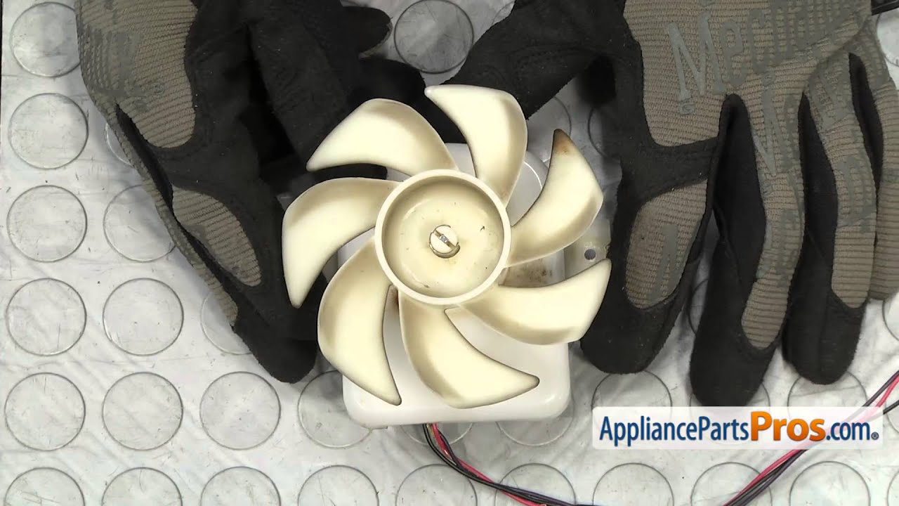 small resolution of refrigerator fan motor part 4681jb1027c how to replace