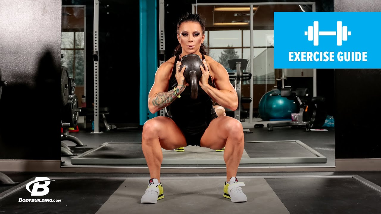 Kettlebell Bodybuilding How To Do A Kettlebell Sumo Squat Exercise Guide