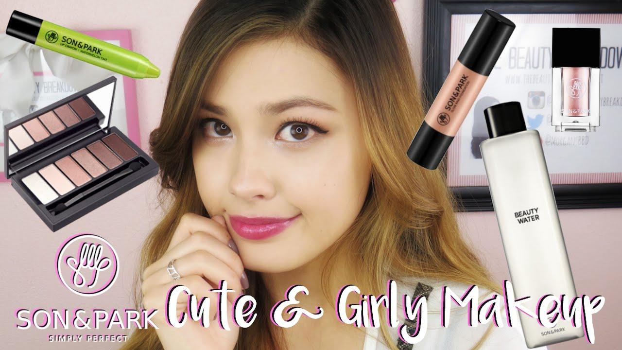 Son & Park One Brand Korean Cute & Girly Makeup Tutorial! The Beauty Breakdown - YouTube