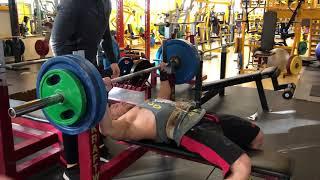 120kg x 20 reps Bench Press