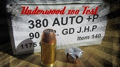 Underwood Ammo Gold Dot 380 +P Ballistics Gel Test & Review