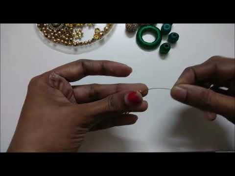 Silk thread designer necklace with locket stylish and perfect - SSC Arts 799