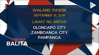 Mga kanseladong pasok dahil sa bagyong #OmpongPh #WalangPasok