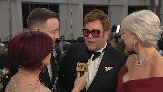 Watch Elton John 'CRASH' Helen Mirren's Interview!| Golden Globes 2020