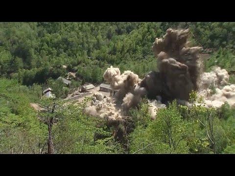 Her sprenger Nord-Korea atomtestanlegget Punggye-ri