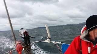 Sailing 6.5 kts F5 North Wales Westerley Fulmar
