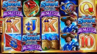 ★REALLY ? IT'S HUGE !!!★BETTER THAN A HANDPAY//SWORD OF THE MUSKETEER Slot ☆Pechanga Casino☆栗