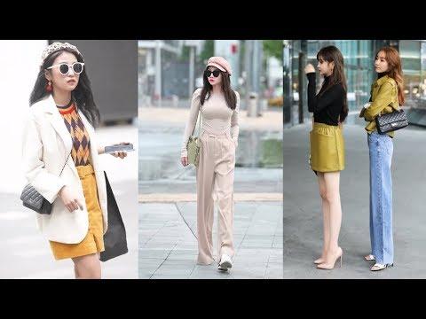 Tik Tok China #31 Pretty Girls Mejores Fashion Walking Style Street Dress Outfit.  抖音時尚網紅街拍合輯。