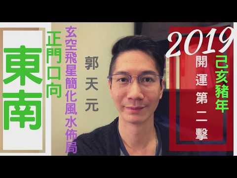 【風水】風水2019十二生肖簡化佈局 豬年⭐️ ⎮ 正門向►東南