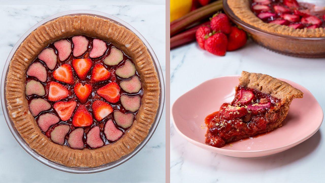 Dairy-Free Strawberry Rhubarb Tart