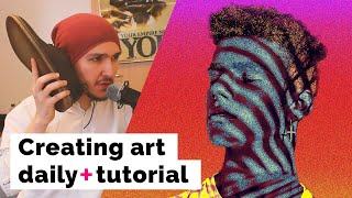 How to create art every day (artwork of the week) - Photoshop Manipulation Tutorial Episode 7