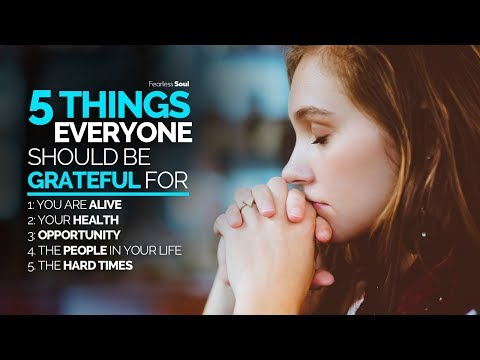 5 Things You Should Be Grateful For Today!