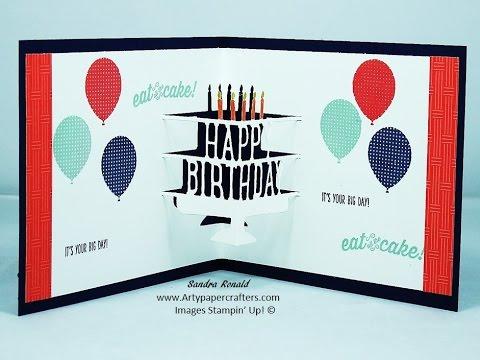 POP-UP HAPPY BIRTHDAY GREETINGS CARD - SandraR UK Stampin' Up! Demonstrator Independent