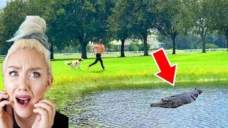 WE HAVE AN ALLIGATOR IN OUR POND! POND MONSTER? *NOT CLICKBAIT * (Caught On Camera)