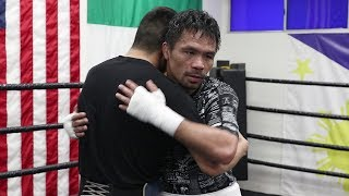 MANNY PACQUIAO PAYS TRAINING PARTNER AB LOPEZ LIKE A BOSS! STACKS OF CA$H