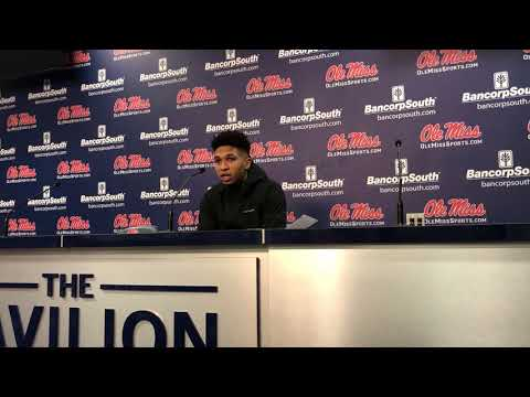 Breein Tyree post game after Rebels defeat Mississippi State, 64-58