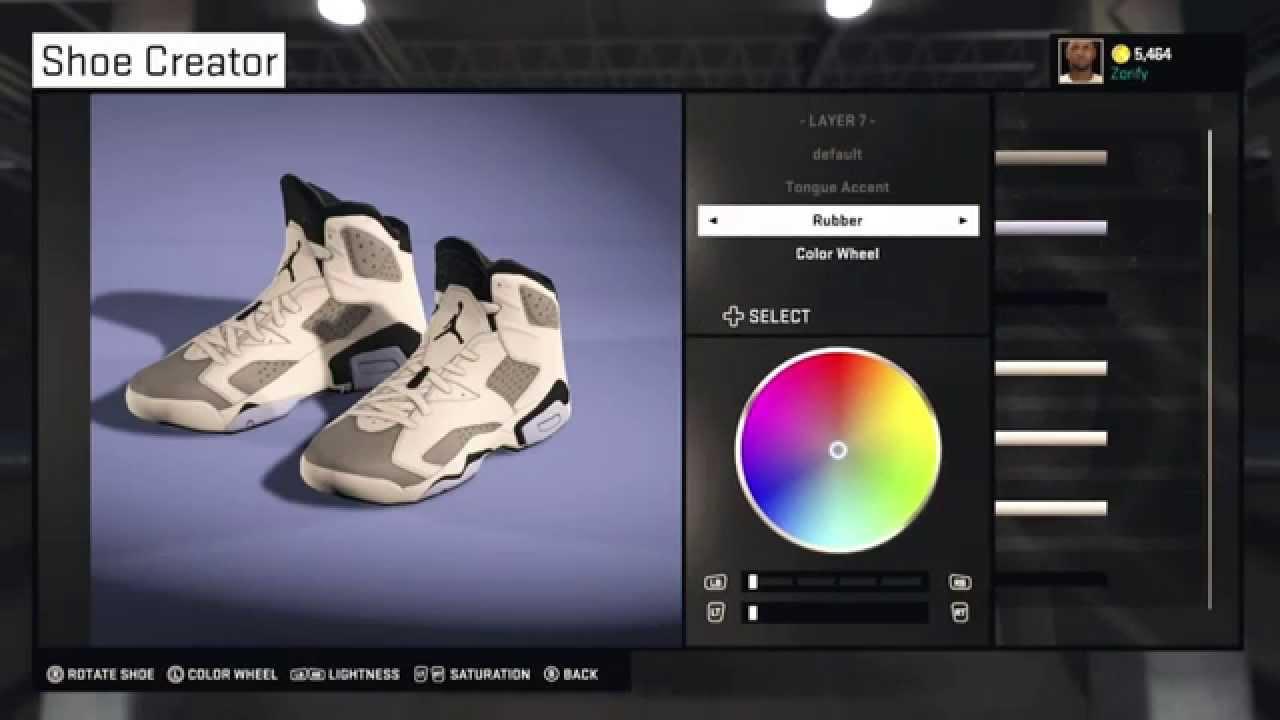 NBA 2K15 Shoe Creator - Air Jordan 6 Custom