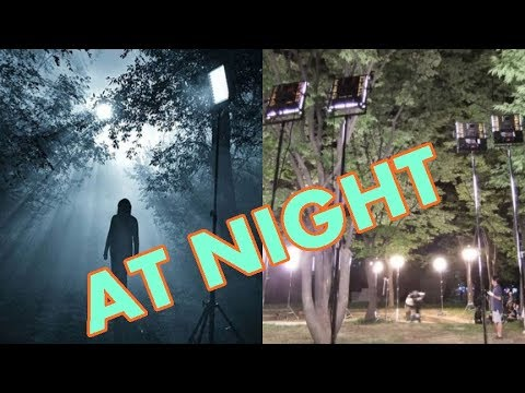 film lighting at night setup  for outdoor video techniques